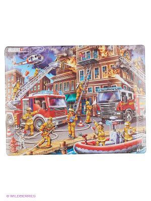 Пазл Пожарники LARSEN AS. Цвет: белый, голубой, желтый, зеленый, оранжевый, синий