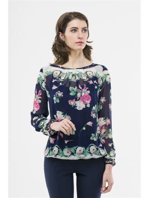 Блузка Modern. Цвет: синий