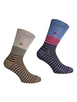 Носки 2 пары Master Socks. Цвет: серо-голубой, бежевый