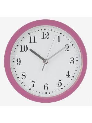 Часы настенные Цифры-завитки в розовой оправе (22,6 см) NAST240 Mitya Veselkov. Цвет: розовый