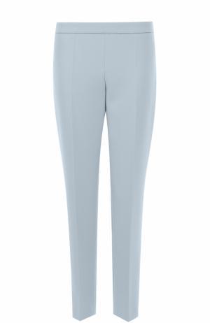 Укороченные прямые брюки со стрелками BOSS. Цвет: голубой