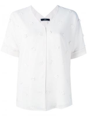 Рубашка с цветочными украшениями Steffen Schraut. Цвет: белый