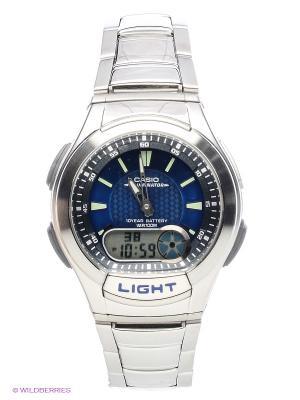 Часы Casio AQ-180WD-2A. Цвет: серебристый, синий