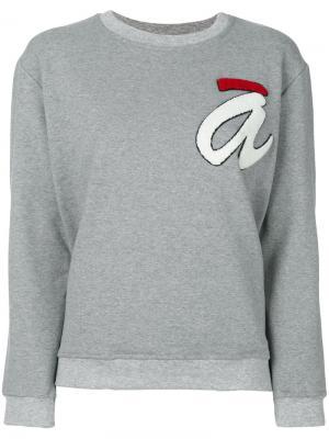 Джемпер с круглым вырезом логотипом Ultràchic. Цвет: серый