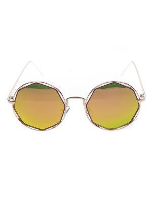 Солнцезащитные очки IQ Format. Цвет: зеленый, серебристый