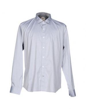 Pубашка GANESH. Цвет: светло-серый