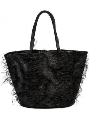 Многослойная сумка-тоут Sensi Studio. Цвет: чёрный