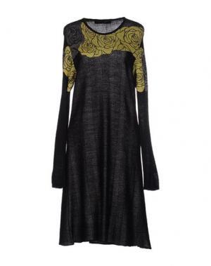 Платье до колена EVALINKA. Цвет: стальной серый