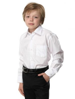 Рубашка  для мальчика HERDAL. Цвет: белый