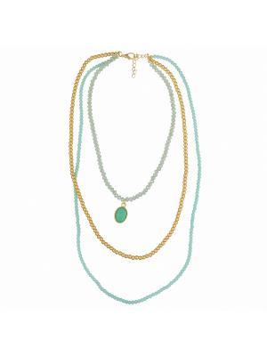 Ожерелье Модные истории. Цвет: светло-зеленый