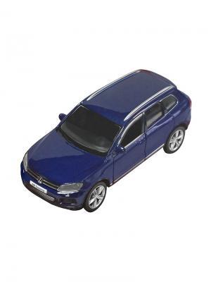 Машинка Инерционная Volkswagen Touareg, Синяя (1:32) (PS-554019-B) Pit Stop. Цвет: синий