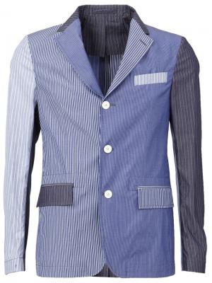 Лоскутный пиджак Wooster + Lardini. Цвет: синий