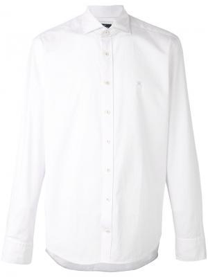 Рубашка с длинными рукавами Hackett. Цвет: белый