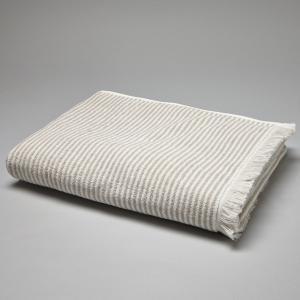Полотенце в полоску 500 г/м² La Redoute Interieurs. Цвет: коралловый
