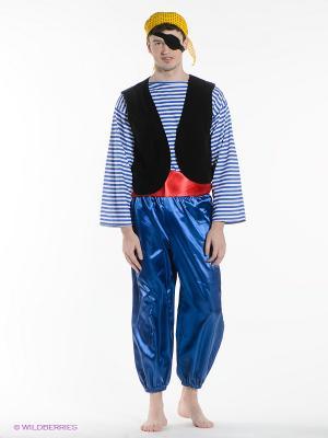 Карнавальный костюм Пират Волшебный мир. Цвет: красный, желтый, синий