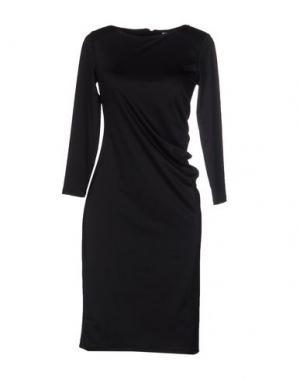 Платье до колена WEILI ZHENG. Цвет: черный