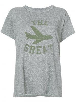 Футболка с принтом логотипа The Great. Цвет: серый