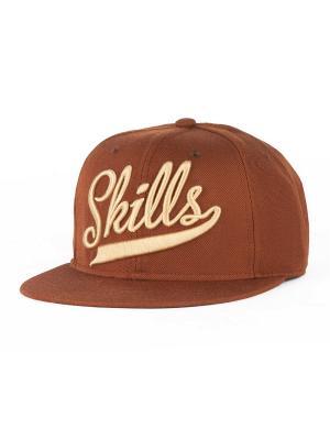 Бейсболка SKILLS 01. Цвет: коричневый