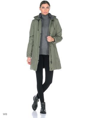Пальто TUULIKKI Maritta. Цвет: оливковый
