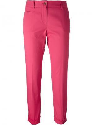 Укороченные брюки строгого кроя Alberto Biani. Цвет: розовый и фиолетовый
