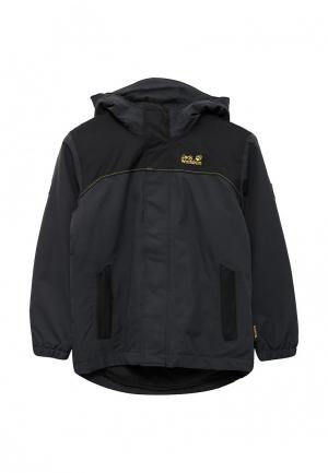 Куртка утепленная Jack Wolfskin. Цвет: черный