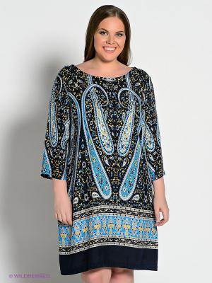 Платье Baon. Цвет: темно-синий, лазурный