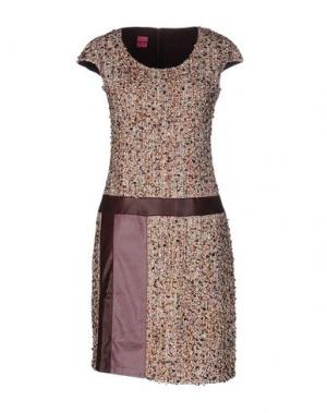 Короткое платье SAVE THE QUEEN. Цвет: бежевый