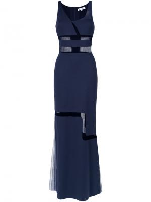 Panelled gown Gloria Coelho. Цвет: синий