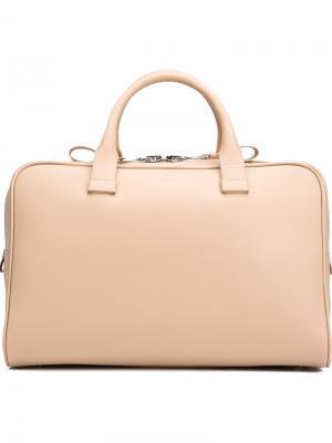 Большая сумка-тоут Valas. Цвет: телесный