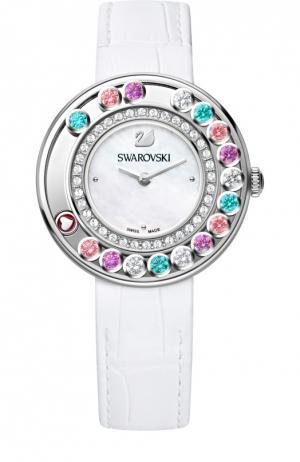 Наручные часы Lovely Crystal с перламутровым циферблатом Swarovski. Цвет: разноцветный