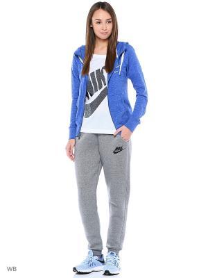 Толстовка W NSW GYM VNTG HOODIE FZ Nike. Цвет: синий, лазурный