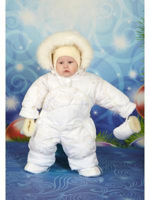 Комбинезон-трансформер для малышей Little Boy. Цвет: белый