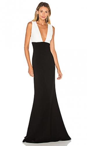 Вечернее платье с колорблок JILL STUART. Цвет: black & white