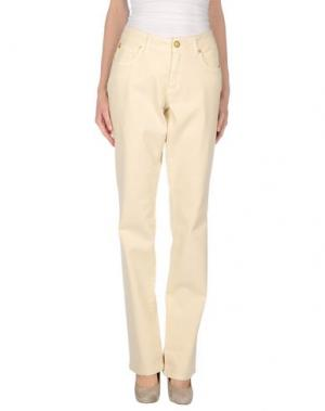 Джинсовые брюки MARANI JEANS. Цвет: бежевый