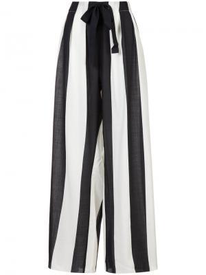 Полосатые брюки-палаццо Maison Rabih Kayrouz. Цвет: чёрный