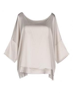 Блузка FRANCESCA FERRANTE. Цвет: светло-серый