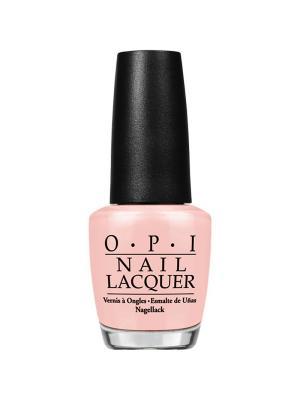 Opi Лак для ногтей Stop Im Blushing, 15 мл. Цвет: бледно-розовый