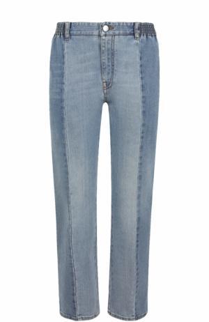 Укороченные джинсы прямого кроя с потертостями Stella McCartney. Цвет: голубой