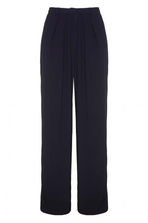 Однотонные брюки VIKTORIA IRBAIEVA. Цвет: синий