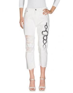 Джинсовые брюки MARCELO BURLON. Цвет: белый
