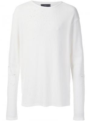 Shotgun thermal long sleeve T-shirt Amiri. Цвет: белый