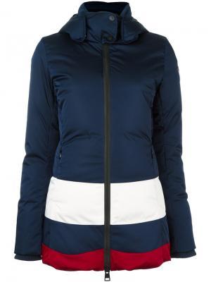 Куртка-пуховик дизайна колор-блок Rossignol. Цвет: синий