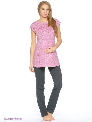 Комплект для беременных и кормящих (туника+брюки) Hunny Mammy. Цвет: розовый