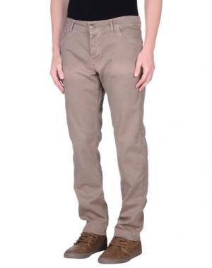 Джинсовые брюки BASICON. Цвет: хаки
