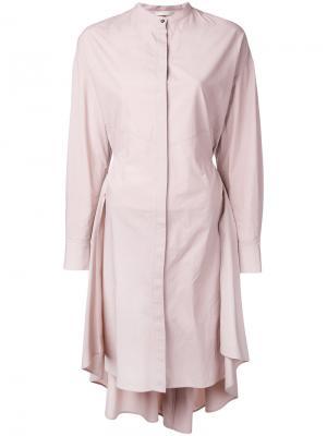 Рубашка-пальто Mantu. Цвет: розовый и фиолетовый
