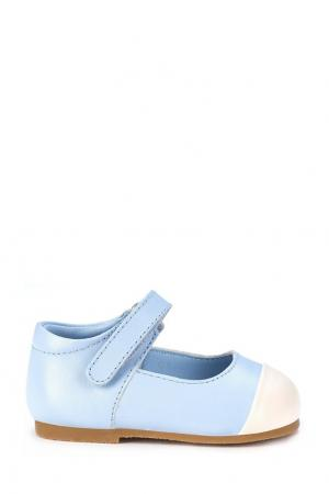 Голубые туфли на липучке Age of Innocence. Цвет: голубой