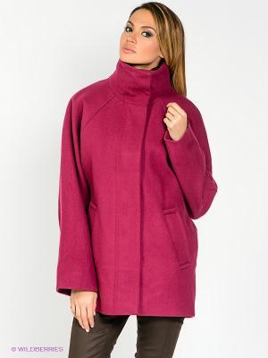 Пальто WEGA. Цвет: бордовый, красный