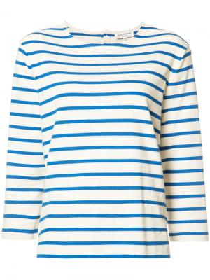 Полосатая футболка Breton YMC. Цвет: белый