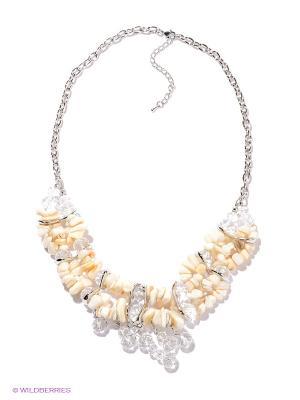 Ожерелье Infiniti. Цвет: молочный, прозрачный, серебристый
