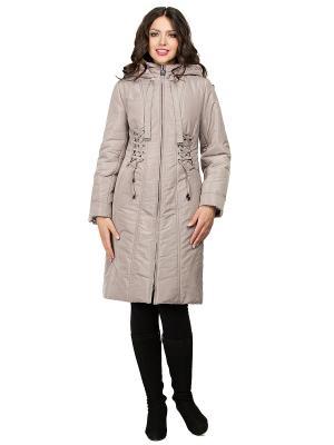 Пальто D`imma. Цвет: серо-коричневый